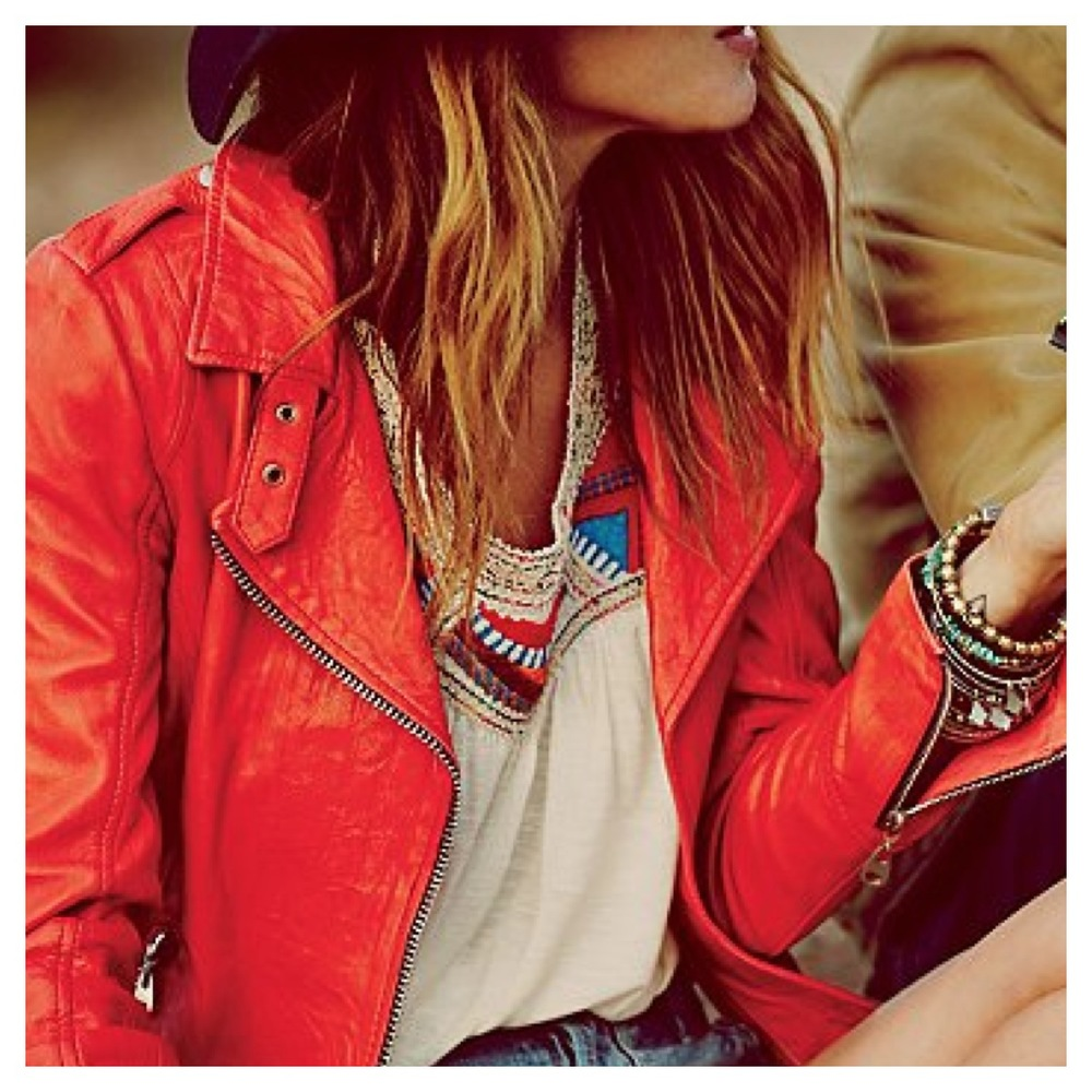 Free People leather jacket.