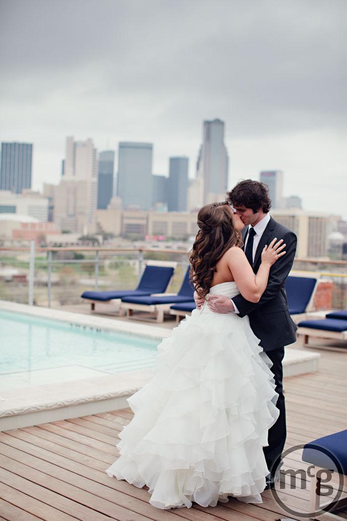 Bride & Groom Dallas Skyline