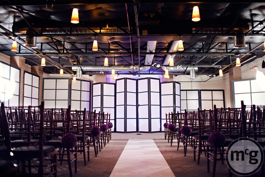 Edison's Dallas Wedding Ceremony Setup