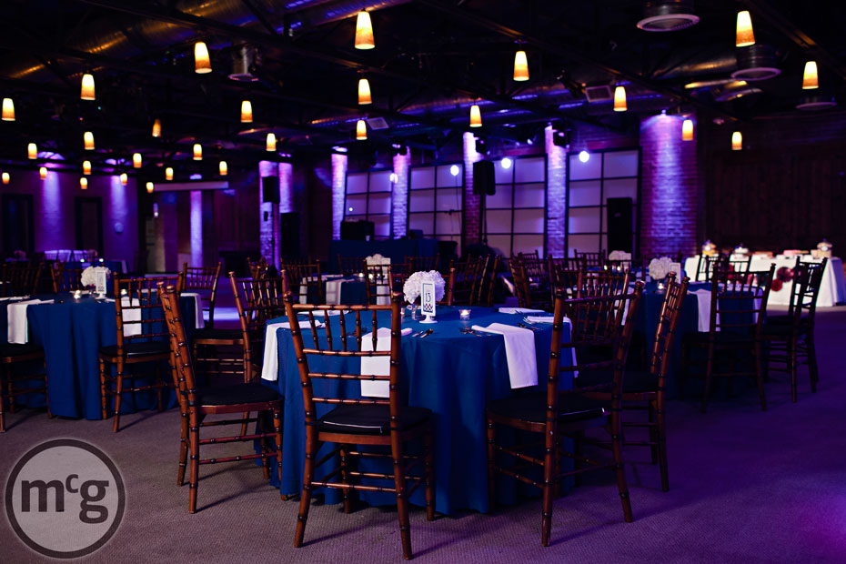 Edison's Dallas Reception Setup Navy Linens