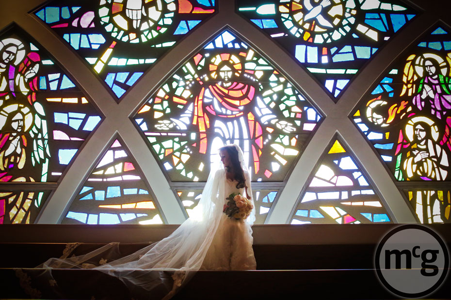 Bridal Portrait Stained Glass