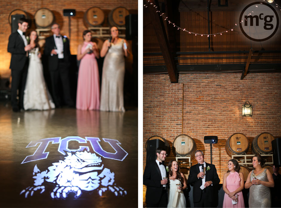 Wedding Toasts TCU Horned Frog Gobo