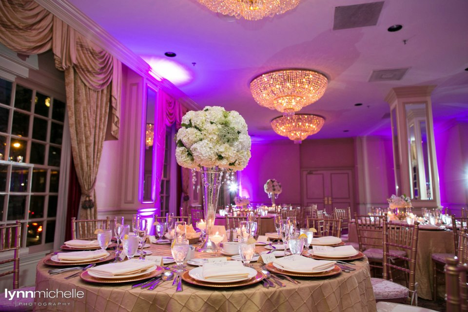 Melrose Hotel Wedding Reception Setup