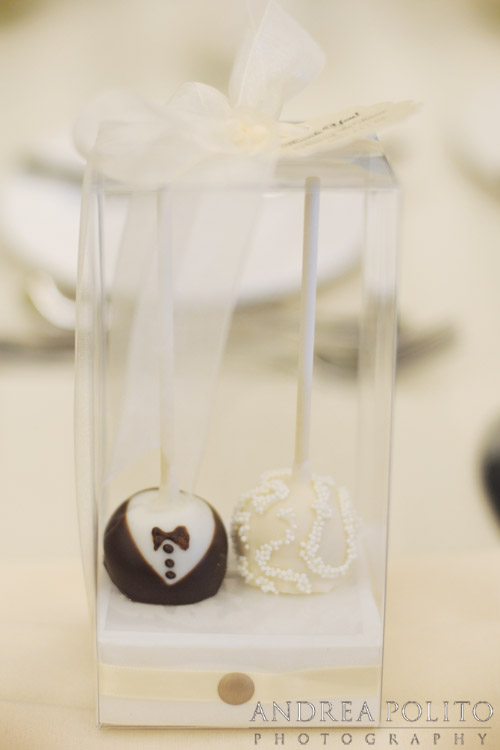 Bride & Groom Custom Cake Ball Wedding Favors