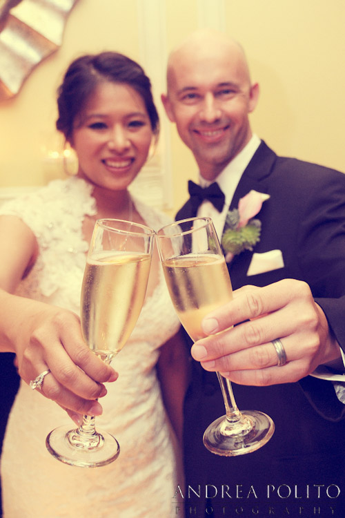 Bride & Groom Champagne Toast