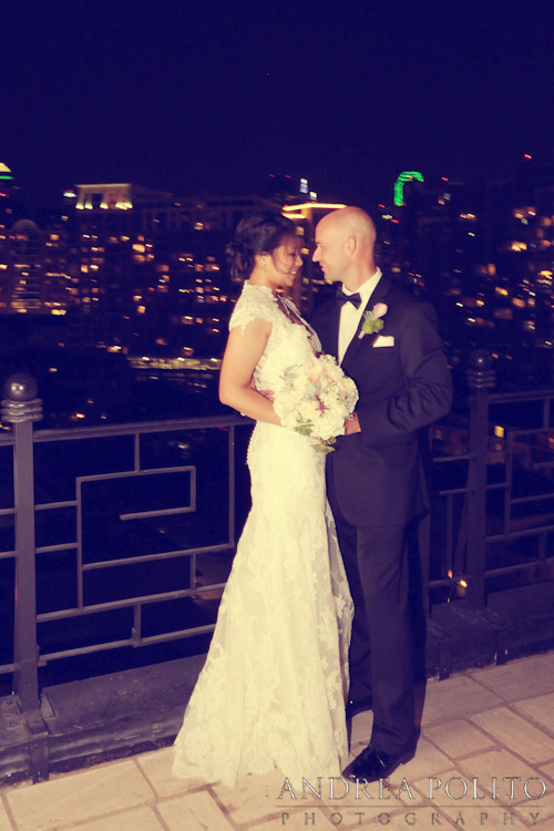 Stoneleigh Hotel Bride & Groom Dallas Skyline