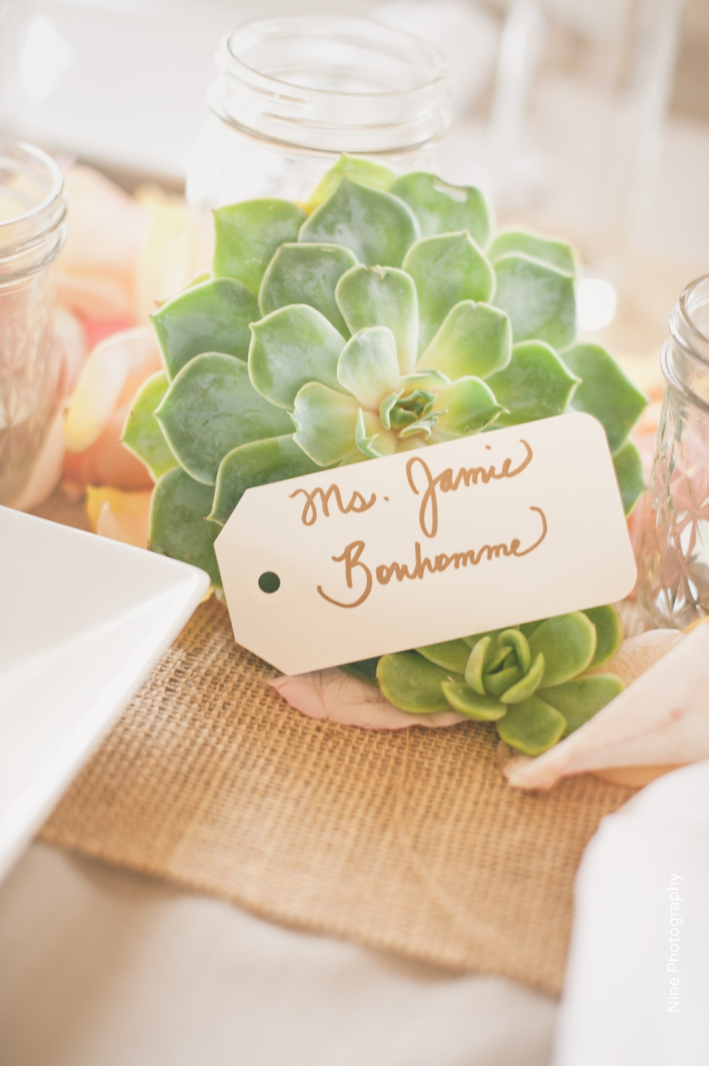 Wedding Succulent Escort Card