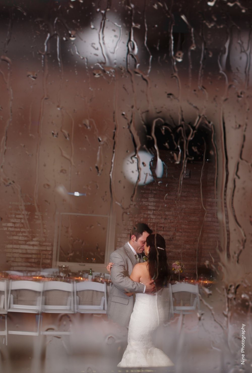 Bride & Groom Private Last Dance Raining Outside