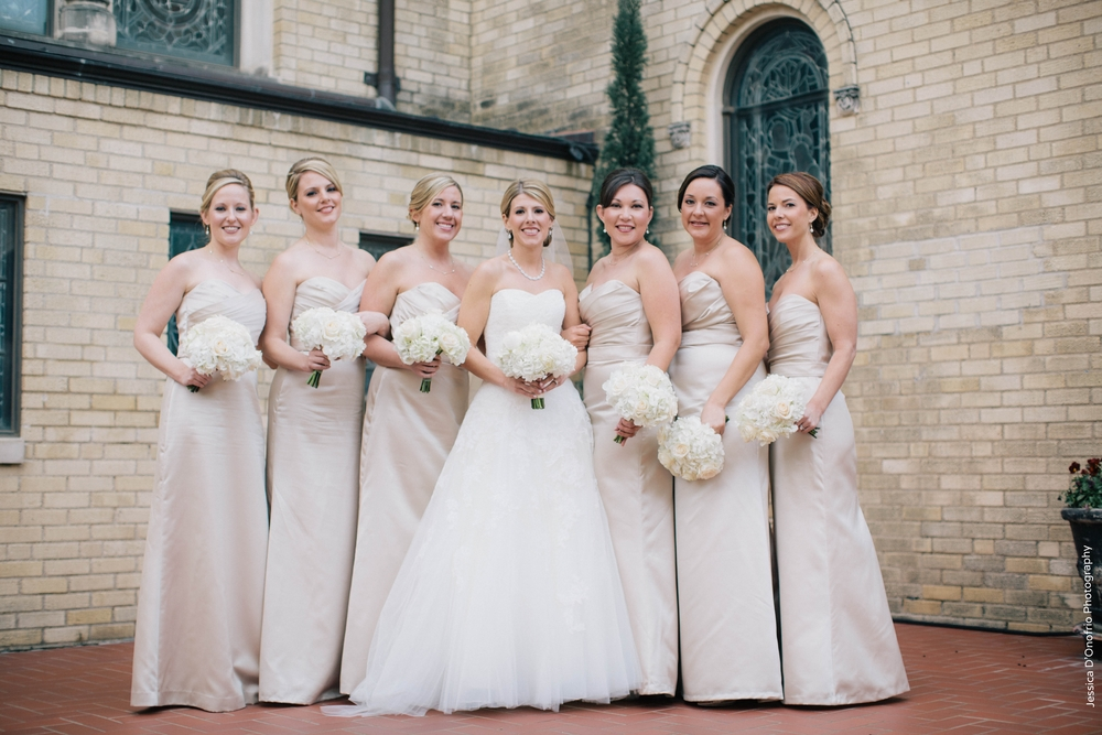 Champagne Floor-length bridesmaids dresses