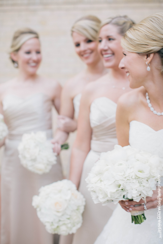 Bride & Bridesmaids White Bouquets