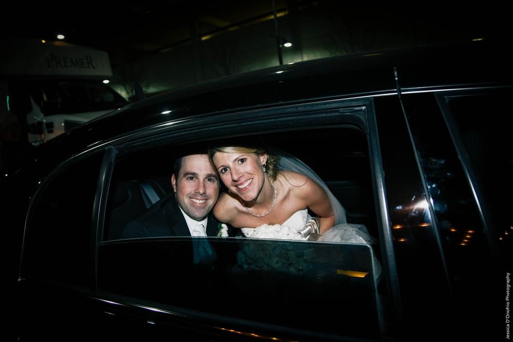 Bride & Groom Wedding Getaway Car