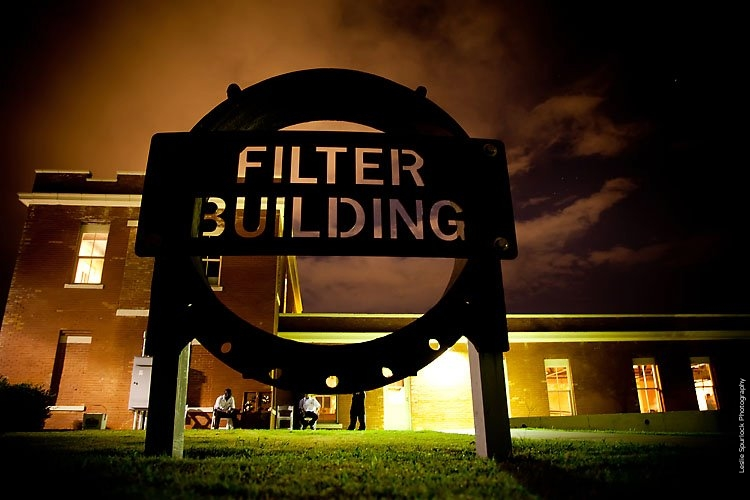 Filter Building White Rock Lake Sign