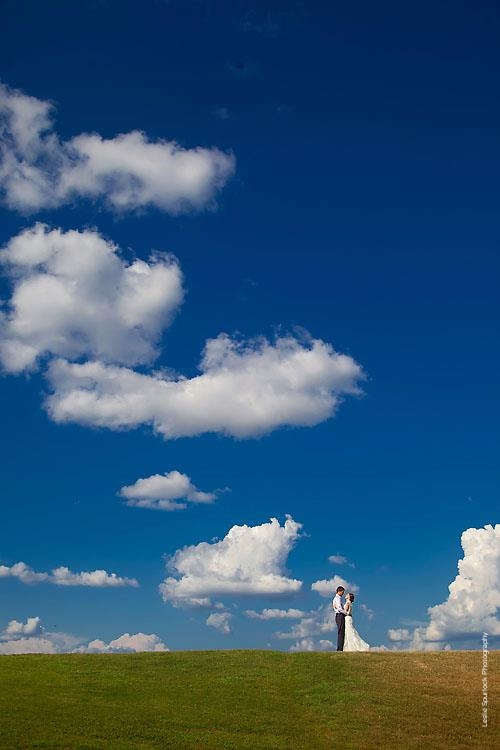 Bride & Groom Sky Portrait