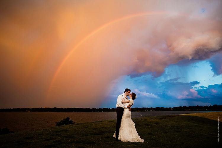 Bride & Groom Stormcloud Rainbow