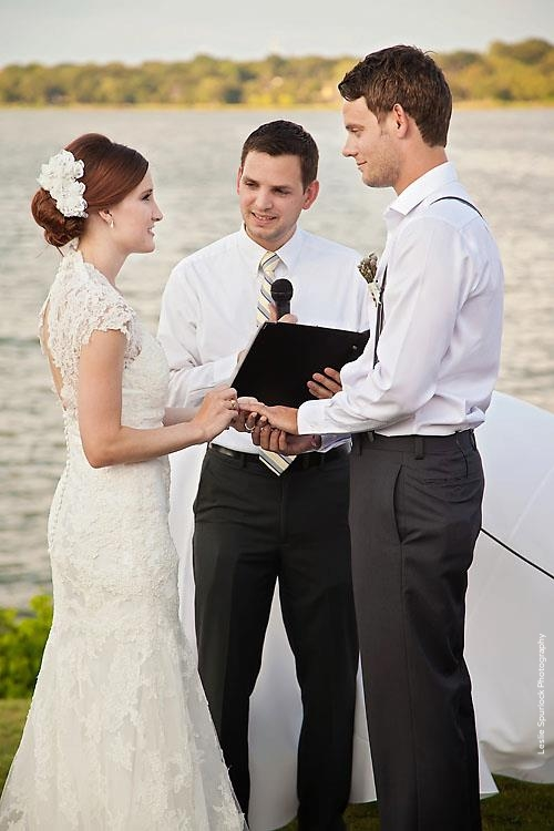 White Rock Lake Wedding Ceremony