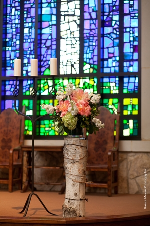 Fort Worth Presbyterian Church Stained Glass Altar Arrangement