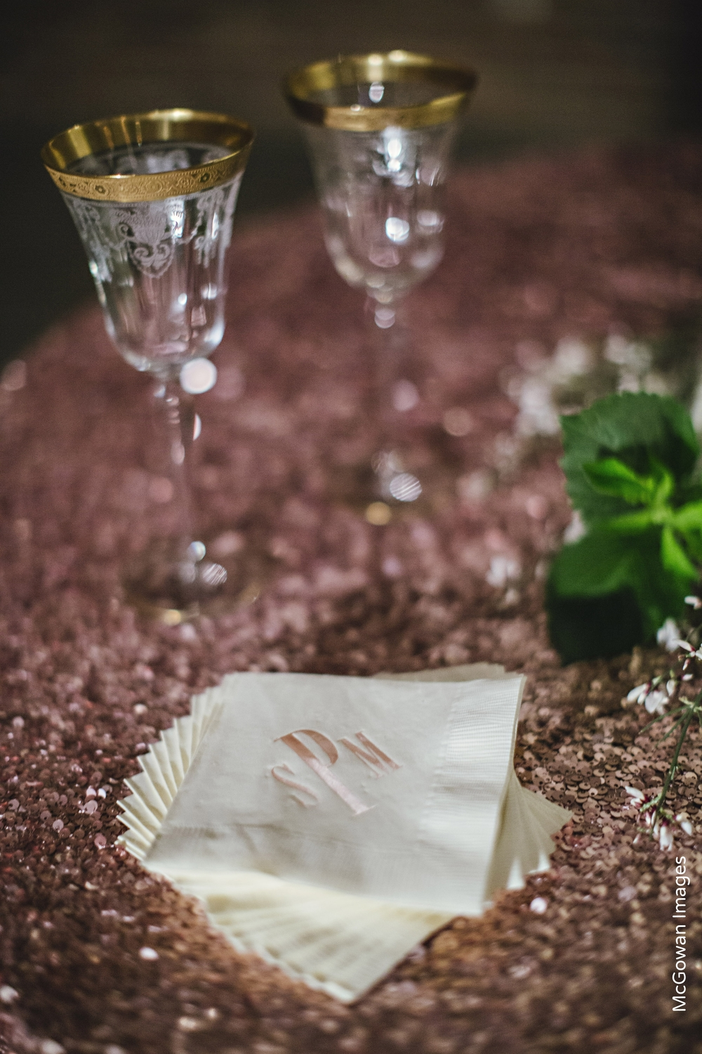 Gold Wedding Champagne Toasting Flutes