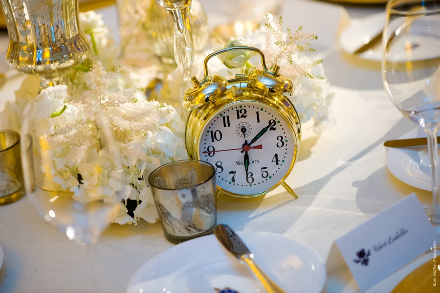 New Years Eve Wedding Gold Clock