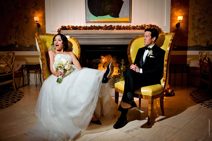 Bride & Groom Fireplace Rosewood Mansion on Turtle Creek