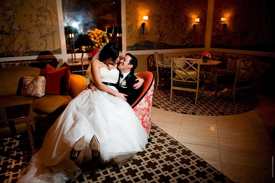 Bride & Groom Rosewood Mansion on Turtle Creek Lounge