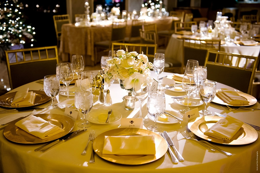 White Gold Mansion on Turtle Creek Reception Table