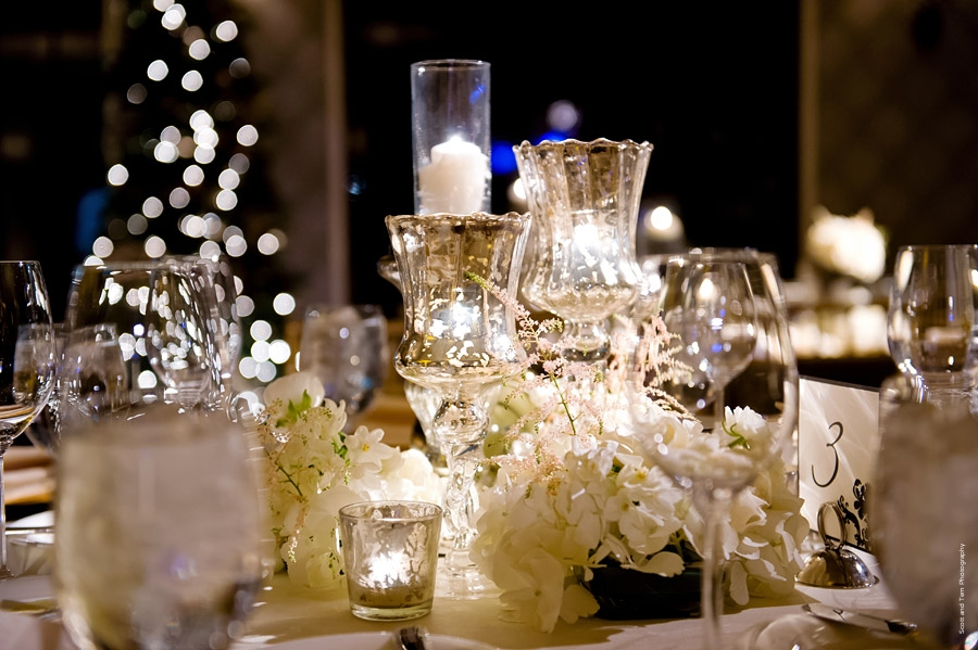 New Years Eve Wedding Gold Mercury Glass Tablescape