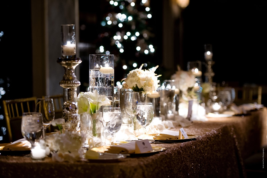 Mansion on Turtle Creek Head Table Gold Tablescape