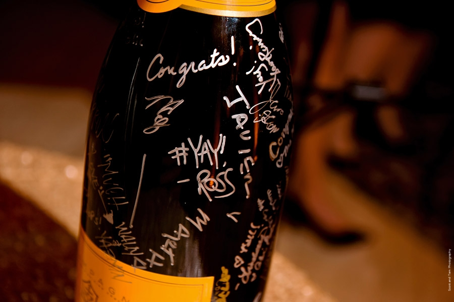 "Wedding ""Guest Book"" sign champagne bottle"