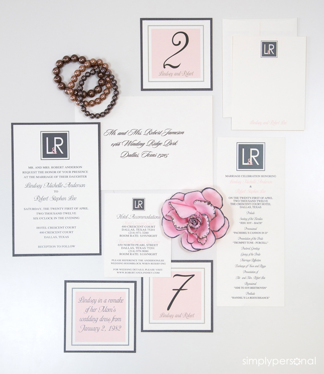 Altar Ego Paperie Coordinated Wedding Invitation Suite