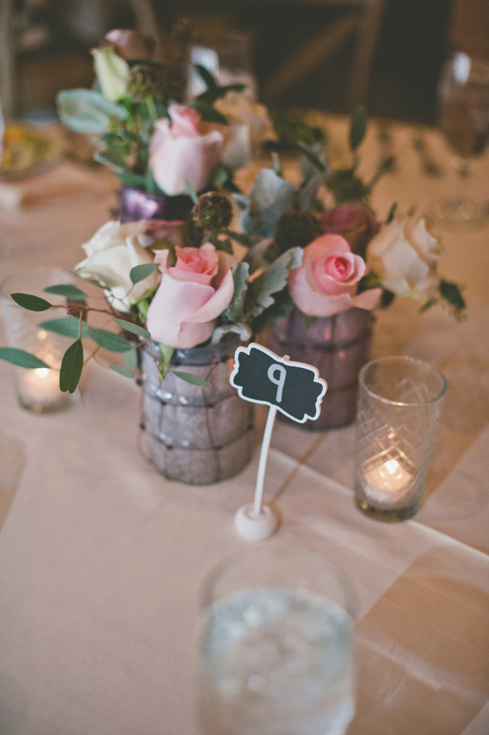 Rustic Wedding Centerpiece Pink Chalkboard Table Number