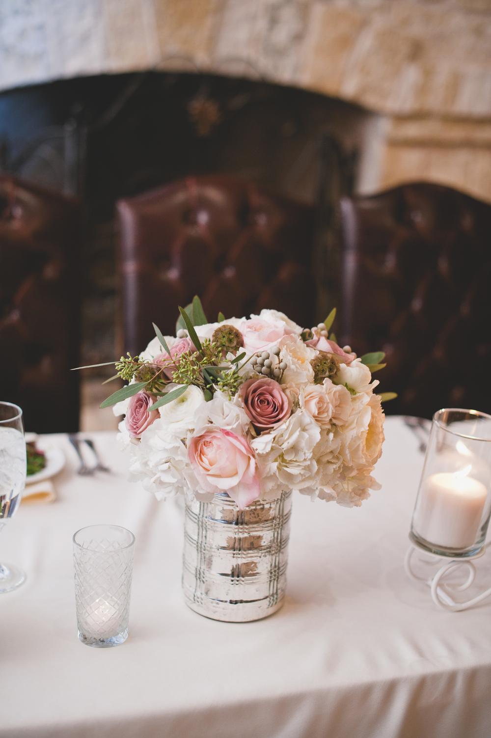 Wedding Centerpiece Pink Silver