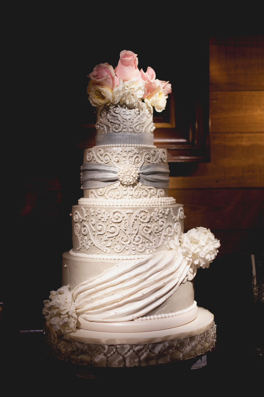 Wedding Cake inspired by bride's dress
