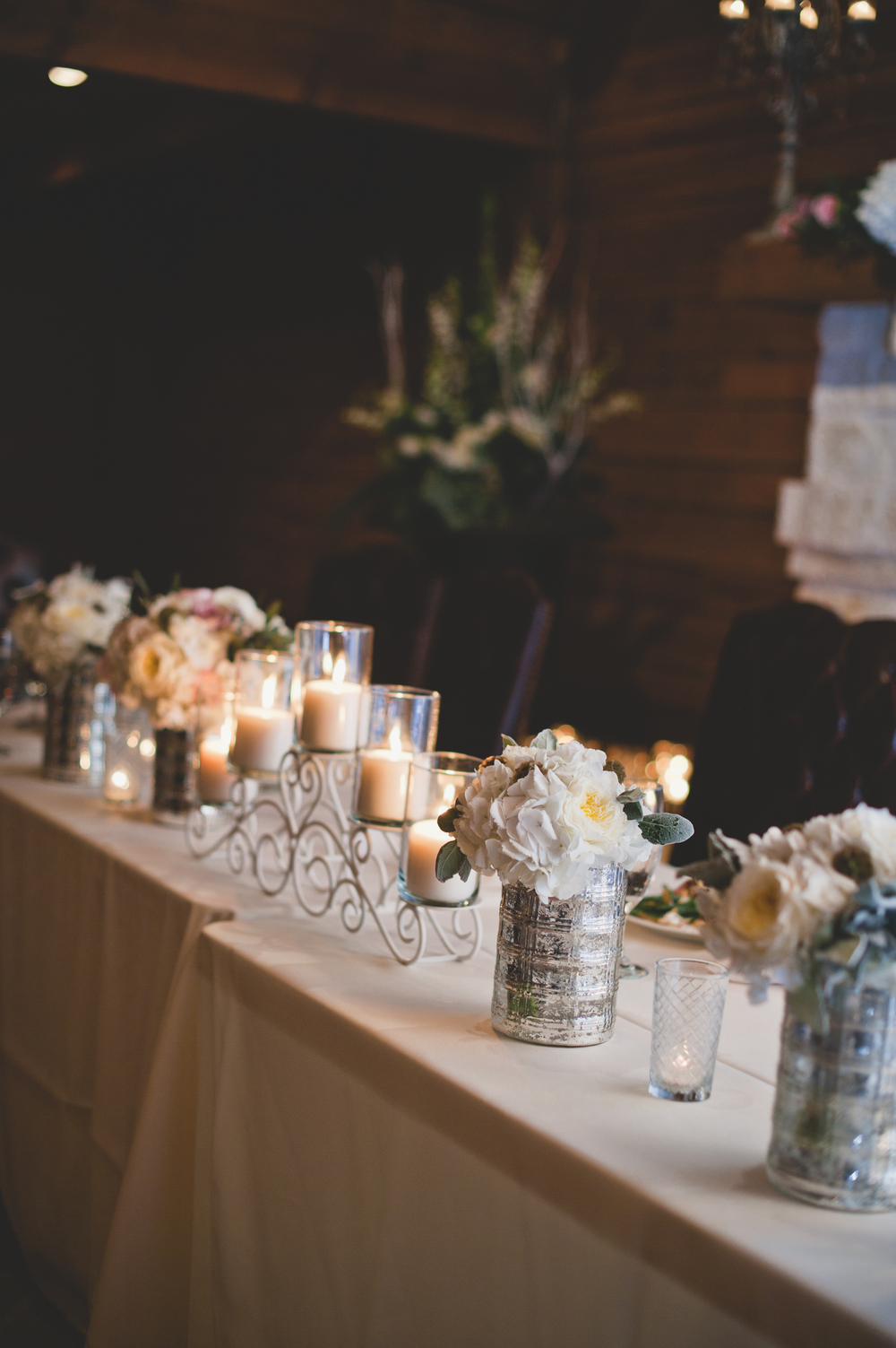 Classic Oaks Ranch Wedding Head Table