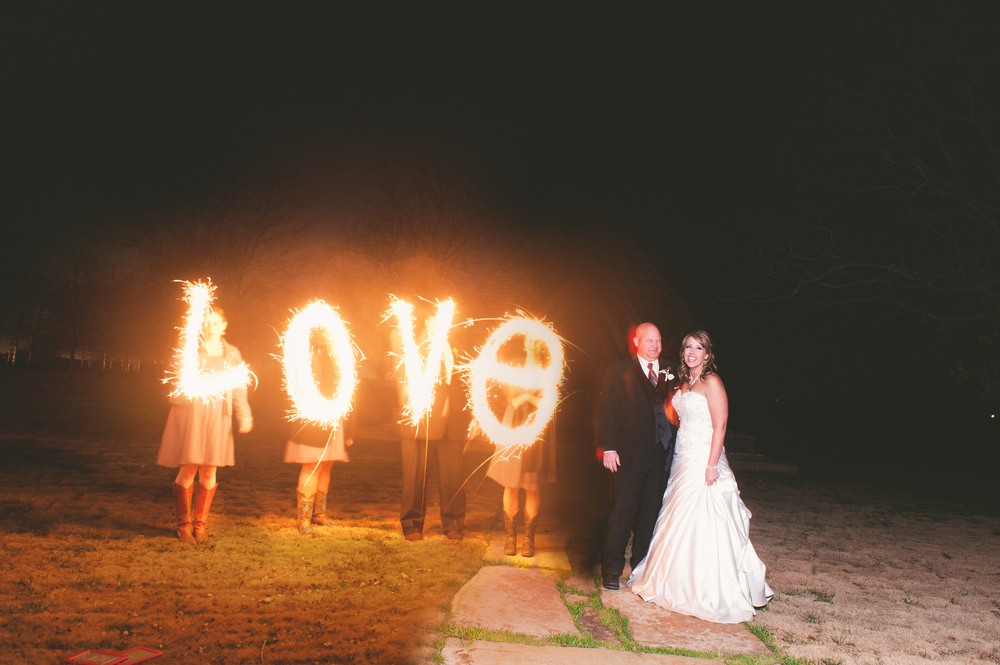 Slow Motion Sparkler Love