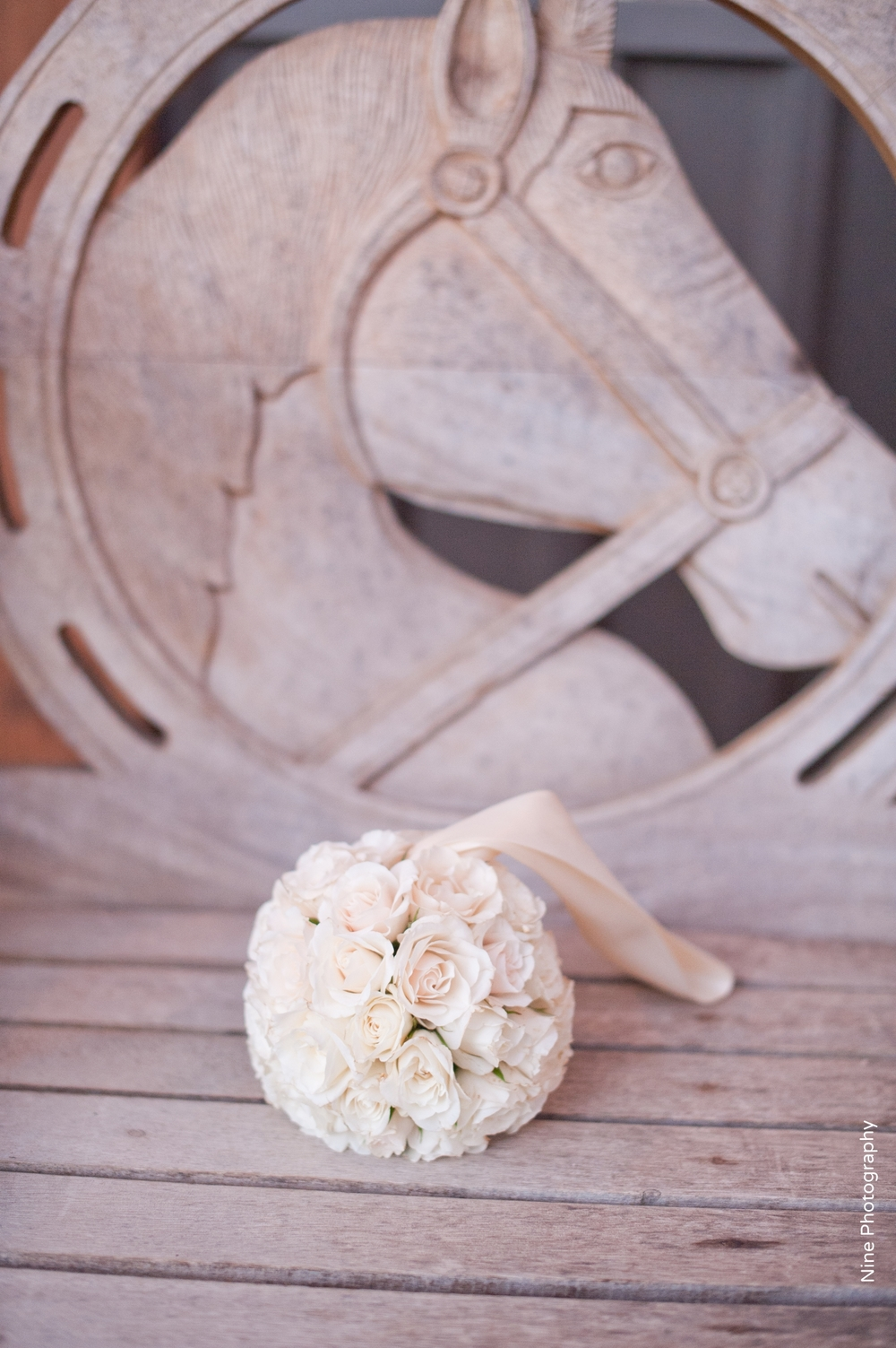 White flower girl pomander kissing ball