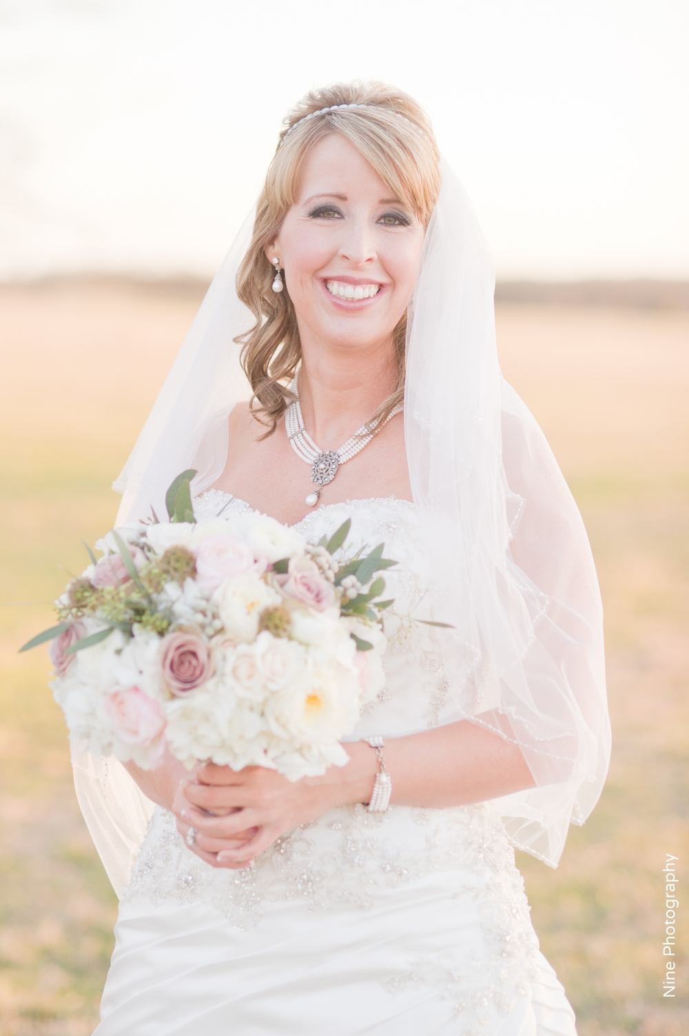 Bridal portrait closeup
