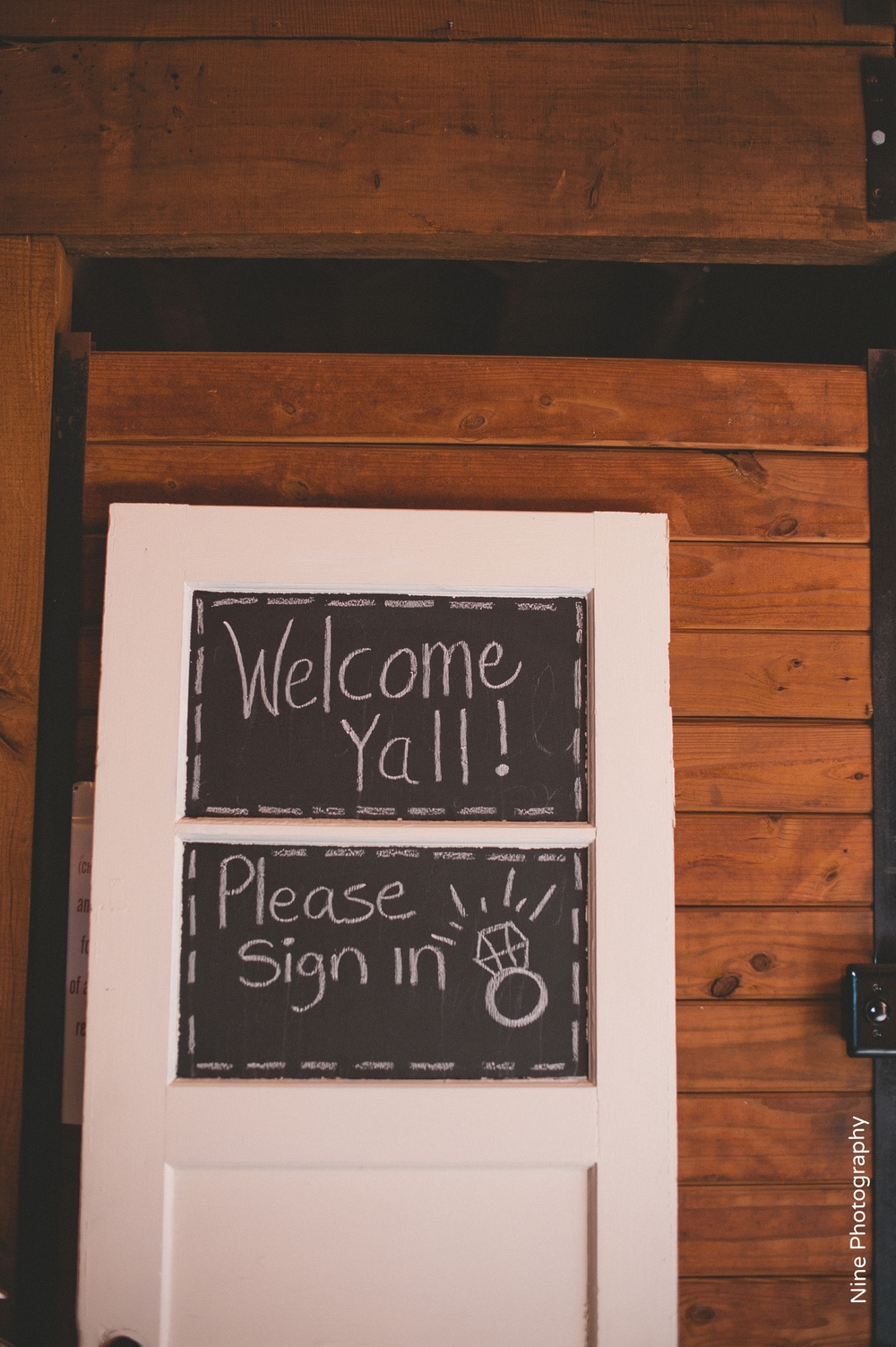 Welcome Door Chalkboard Sign
