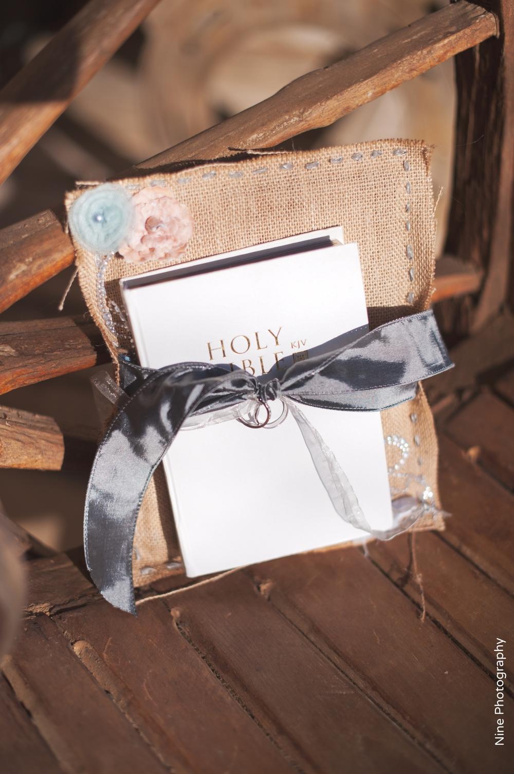 Rustic Ringbearer Bible
