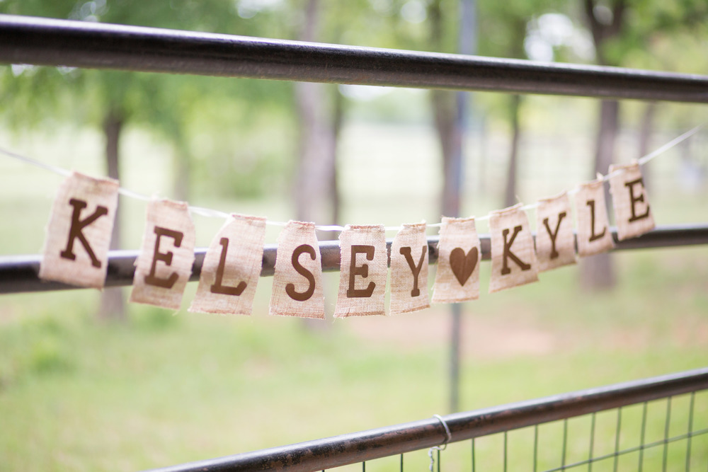 Couple's name burlap bunting