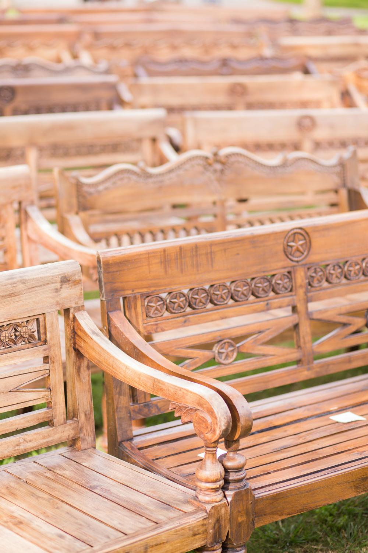 Rustic Wooden Pews