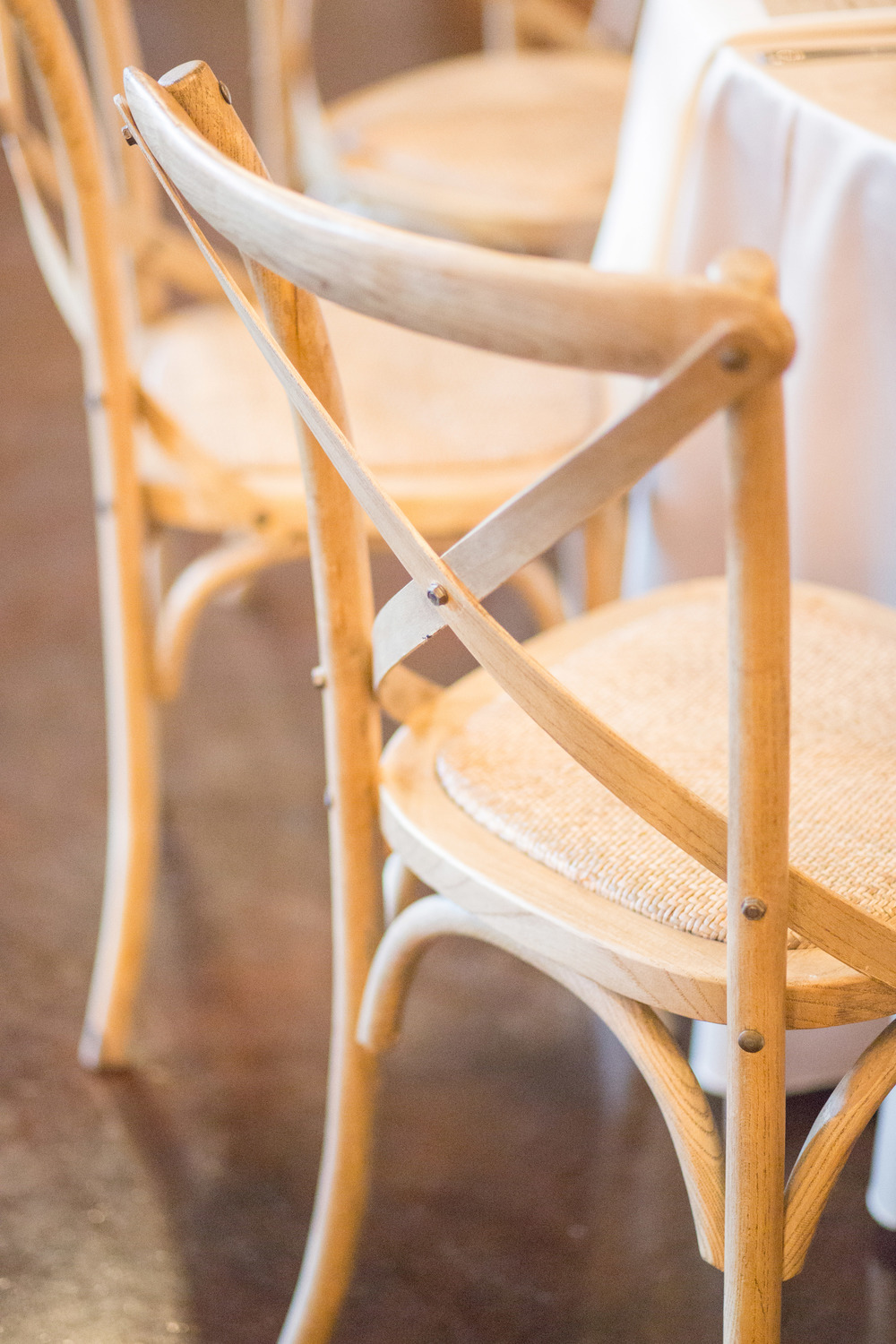 Cafe wooden chairs