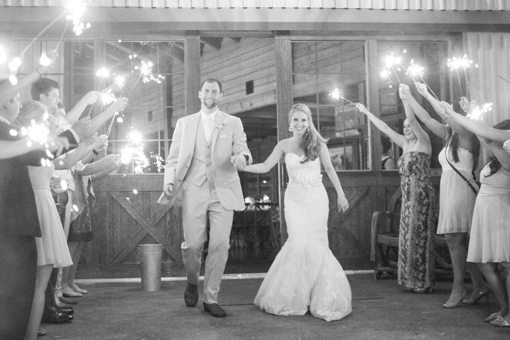 Classic Oaks Ranch Wedding Sparkler Grand Exit