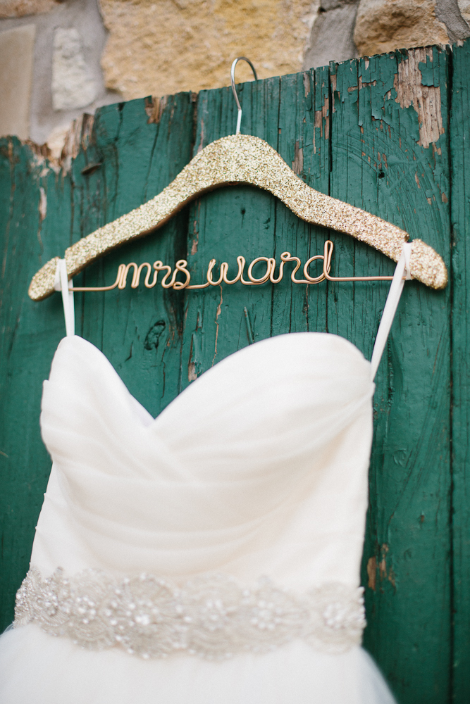Personalized Wedding Hanger Mrs. Ward