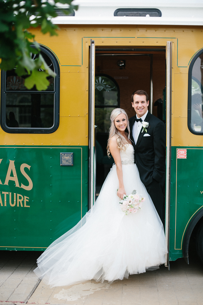 Bride & Groom McKinney Trolley