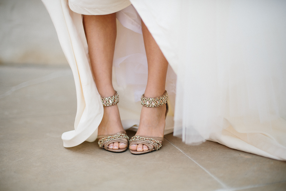 Sparkly Heeled Wedding Shoes