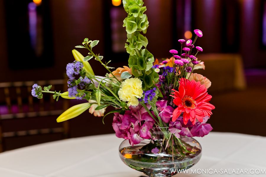 Bright Wedding Centerpiece