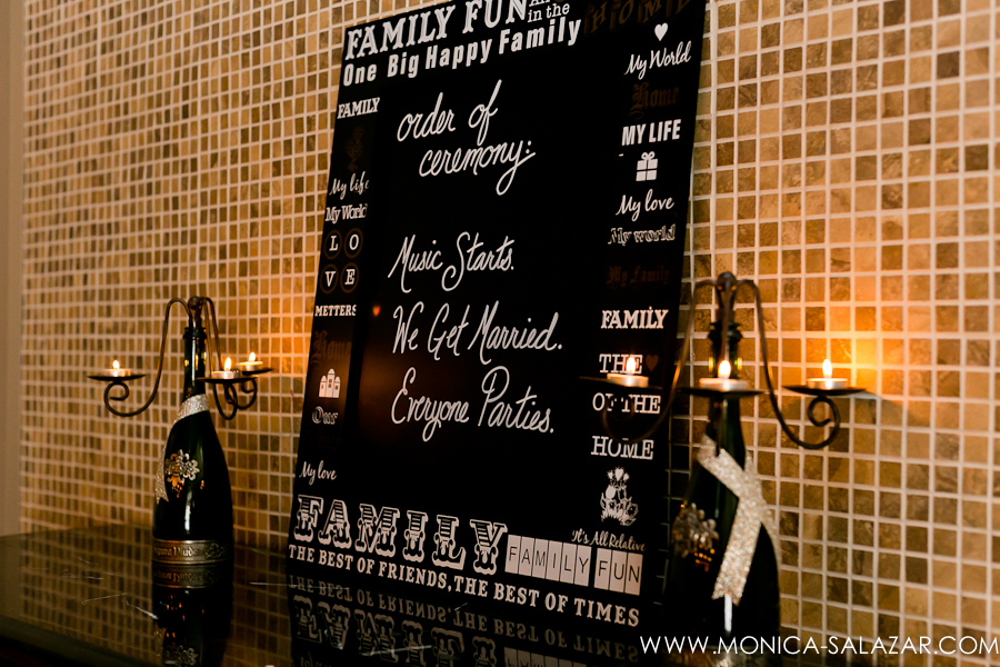 Wedding Program Chalkboard
