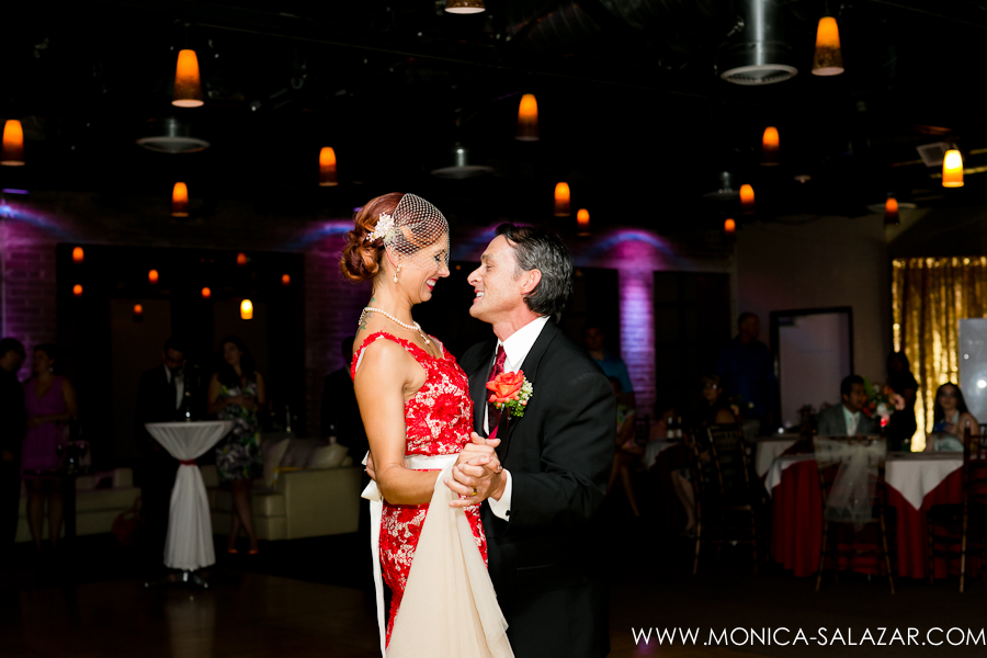 Bride & Groom First Dance Red Wedding Dress