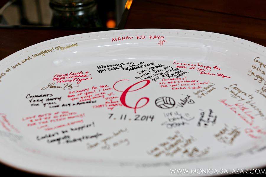 Wedding Guest Sign-in Plate Platter