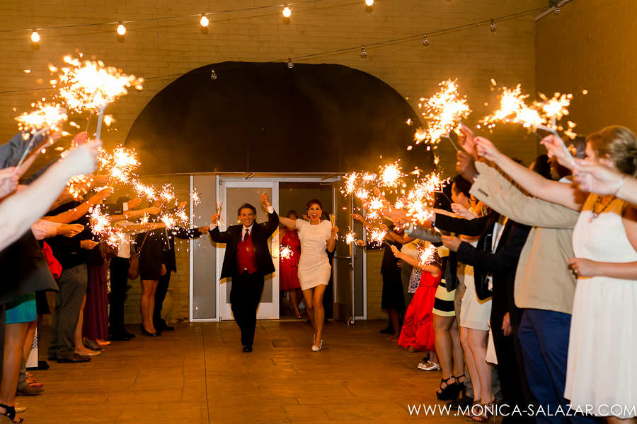 Edison's Dallas Wedding Sparkler Grand Exit